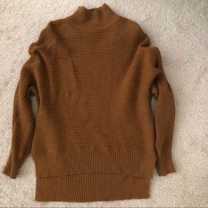 Ann Taylor loft mustard brown turtle neck sweater